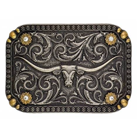 Montana Silversmiths Longhorn Traditional Attitude Buckle