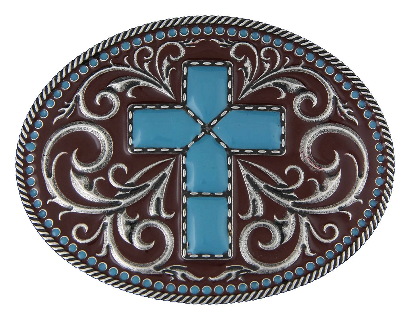 Montana Silversmiths Gothic Southwest Stitched Cross Buckle
