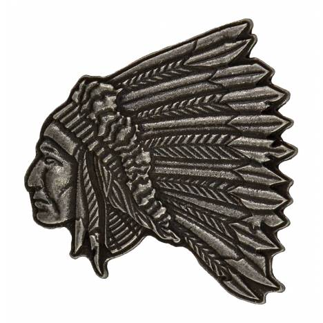 Montana Silversmiths Indian Chief Portrait Shaped Attitude Buckle