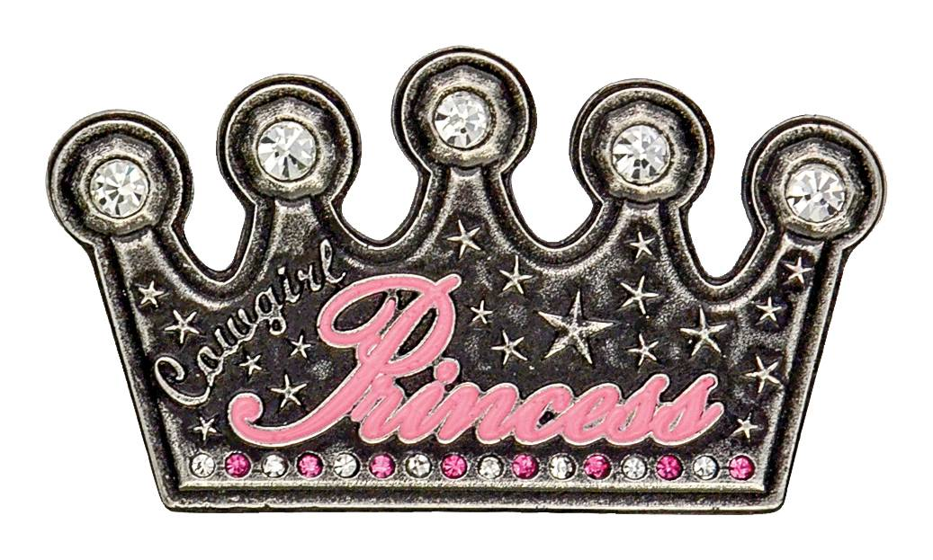 Montana Silversmiths Cowgirl Princess Crown Kid'S Attitude Buckle