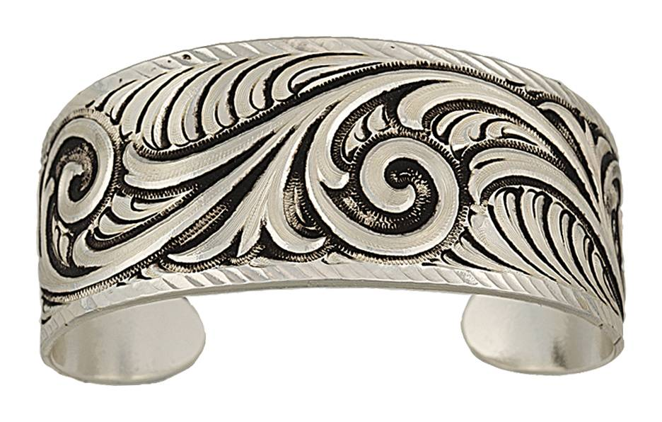 Montana Silversmiths Antiqued Wide Scroll Bracelet
