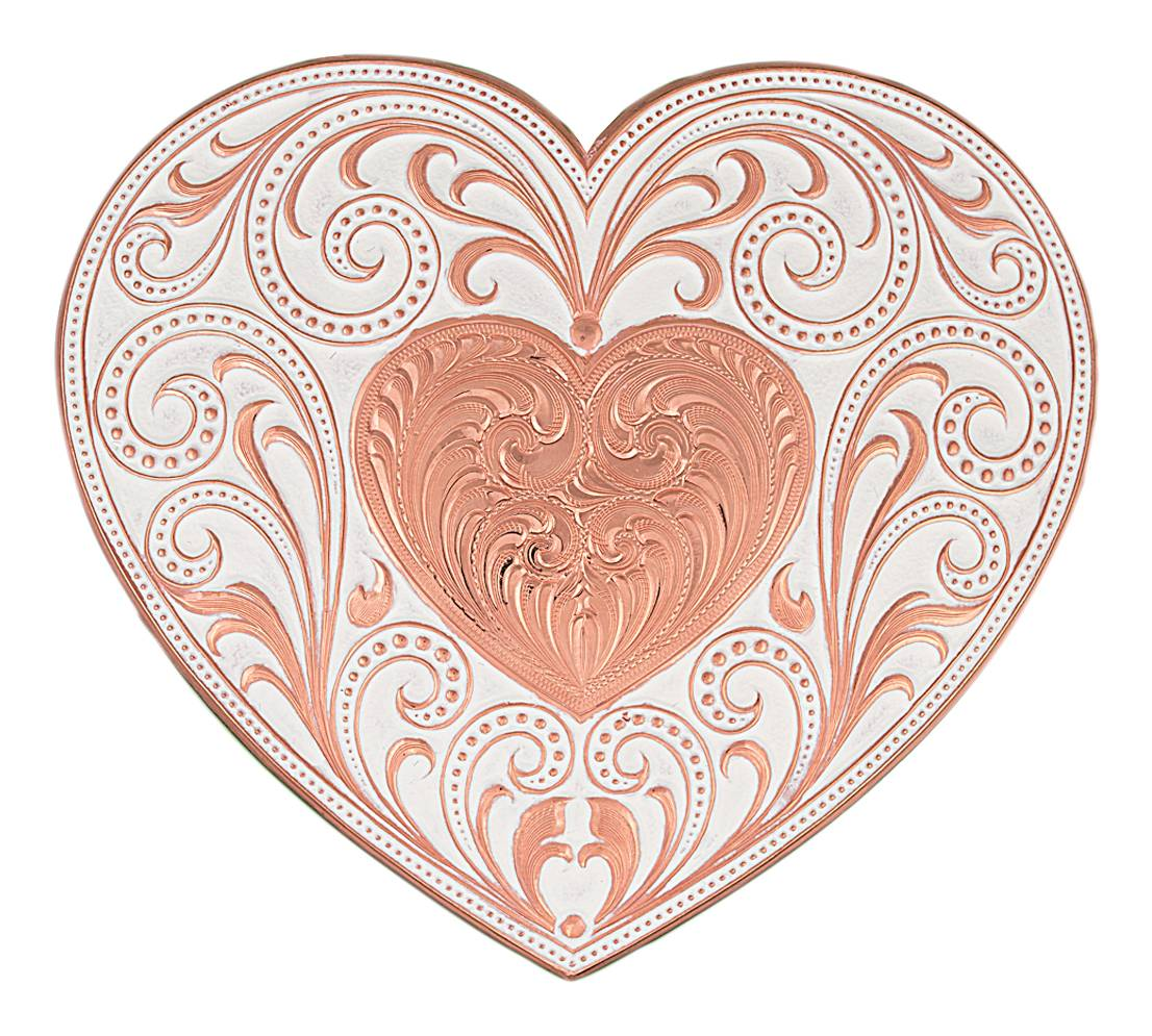 Montana Silversmiths Copper Finish Heart Whispers Buckle