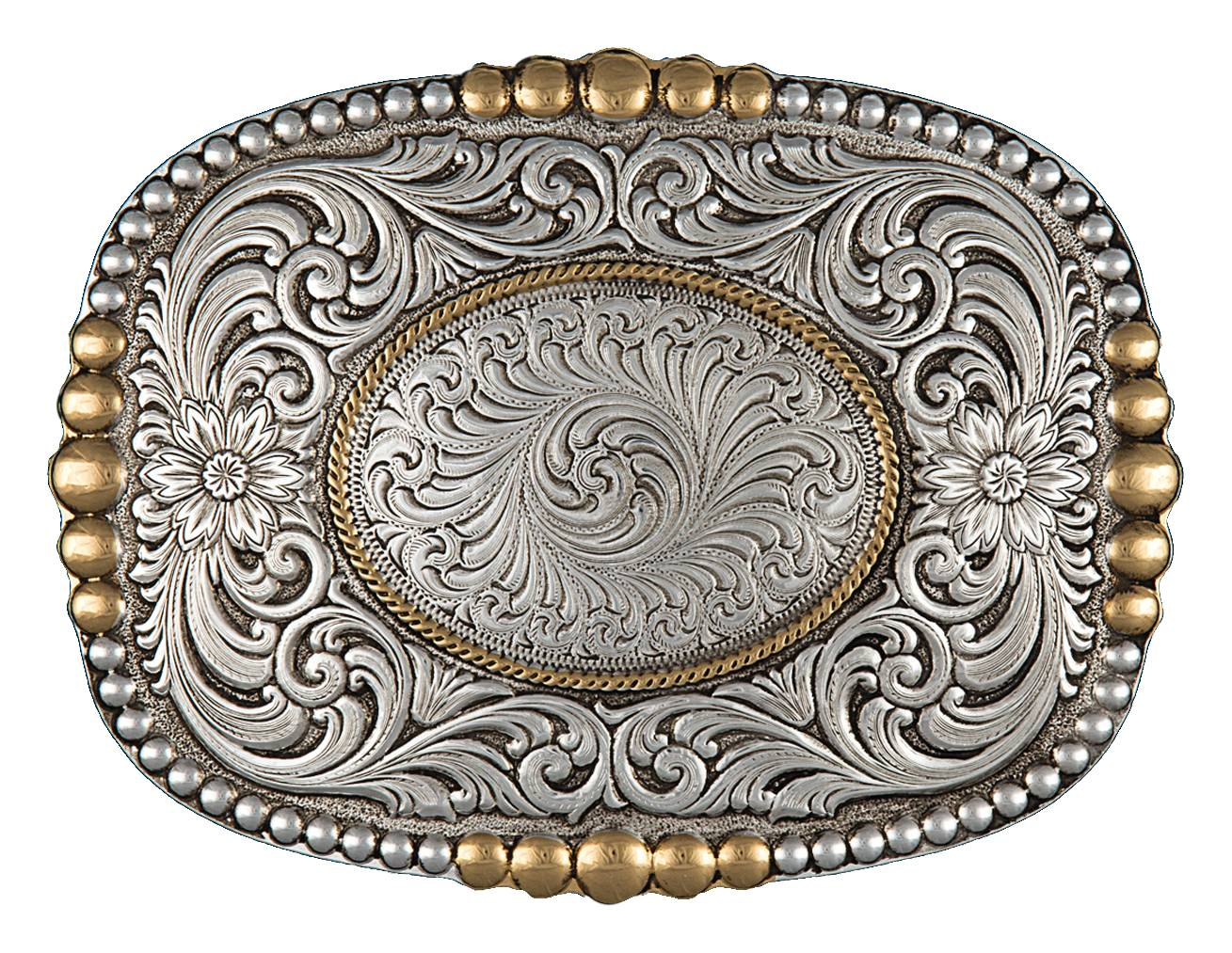 Montana Silversmiths Heirloom Gold Pioneer Portrait Buckle