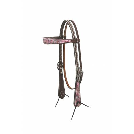 Weaver Vintage Paisley Browband Headstall with Overlay