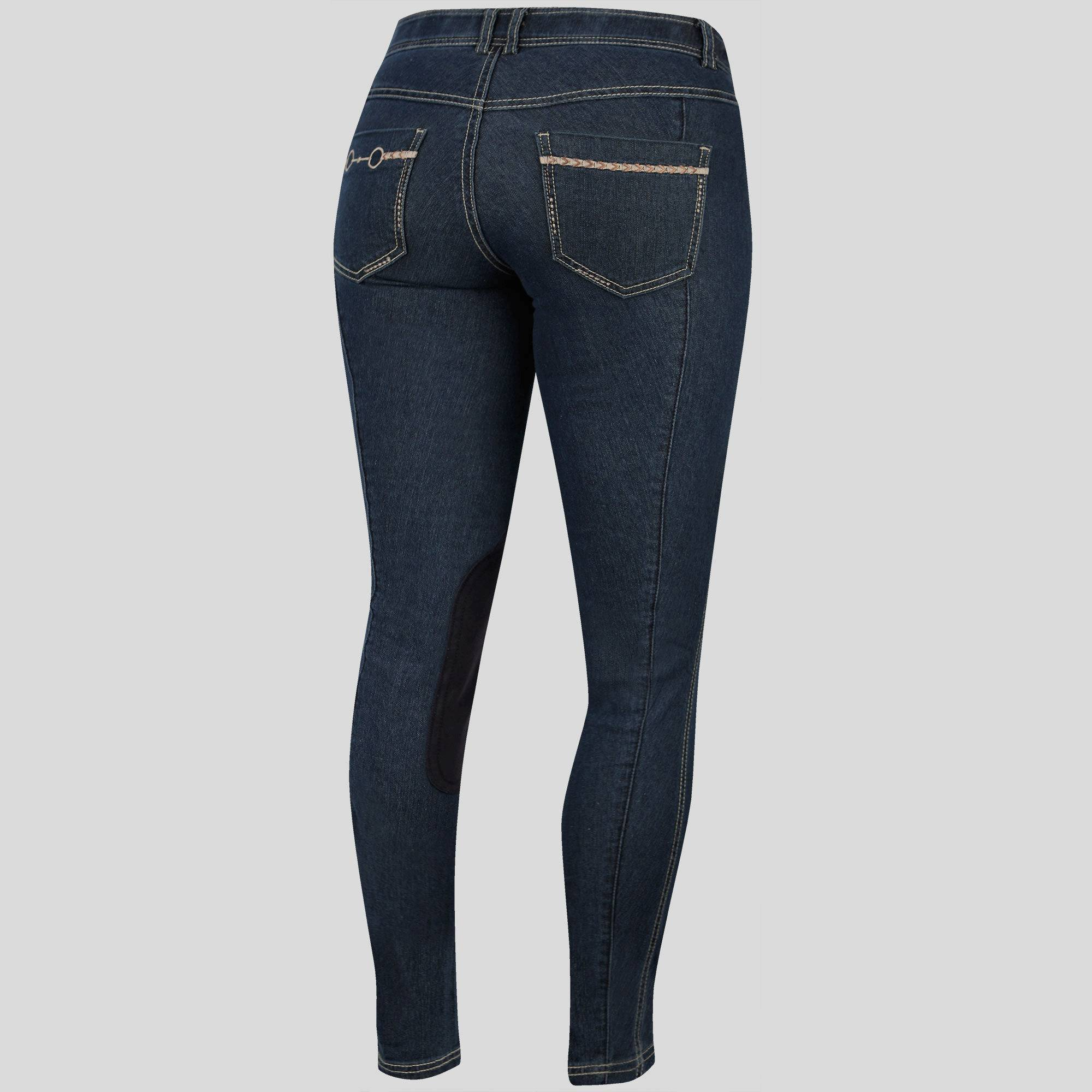 Irideon Women's Stretch Denim Bit & Reins Breech