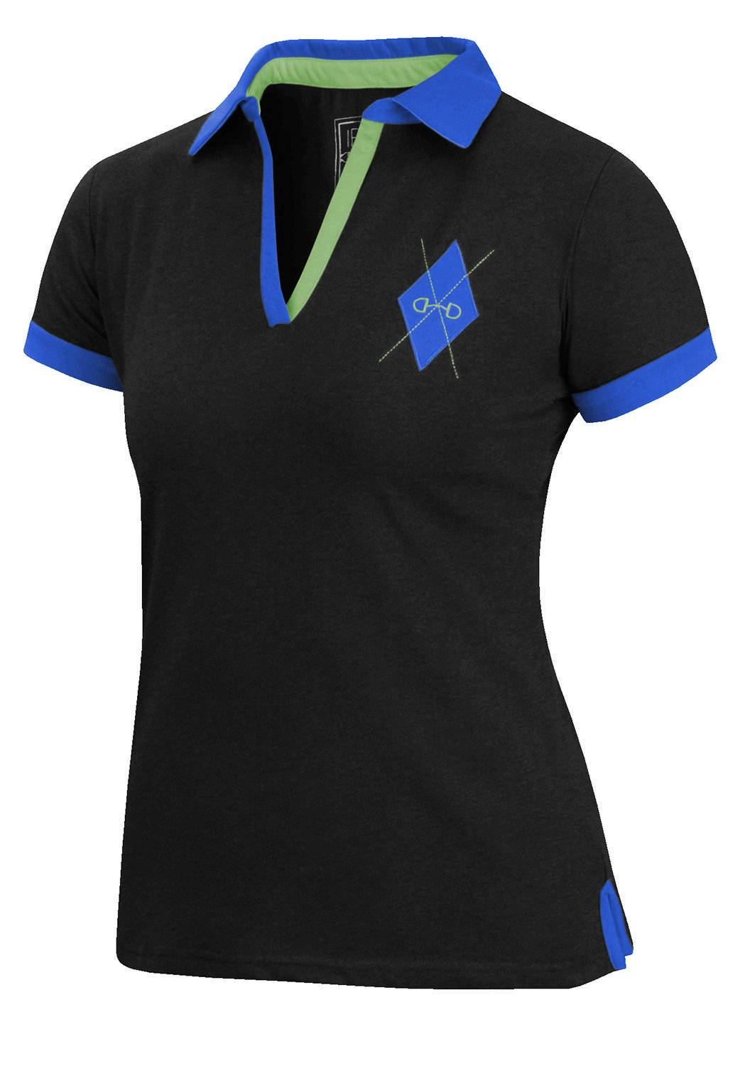 Irideon Women's Argyle Short Sleeve Polo