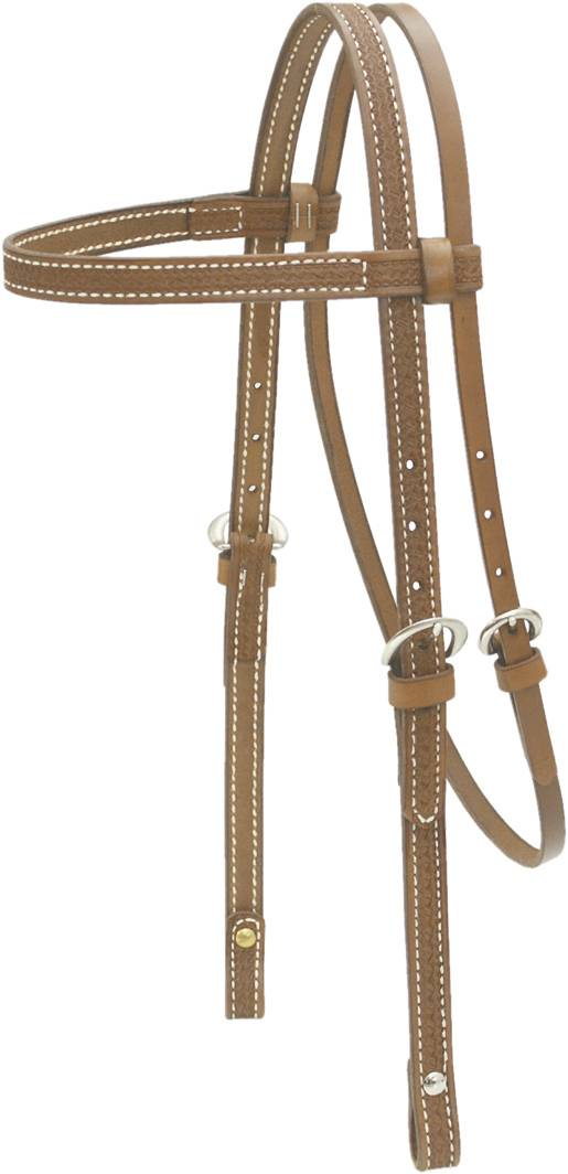 Billy Cook Basket Tooled Headstall