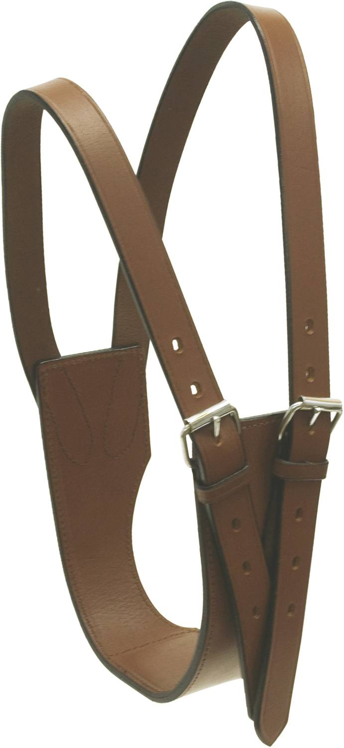 Cowboy Pro Leather Cribbing Collar
