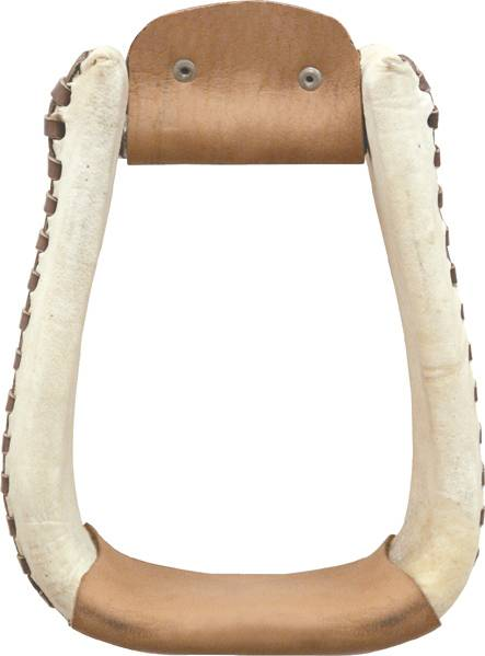 Billy Cook Saddlery Rawhide Laced Roper Stirrup