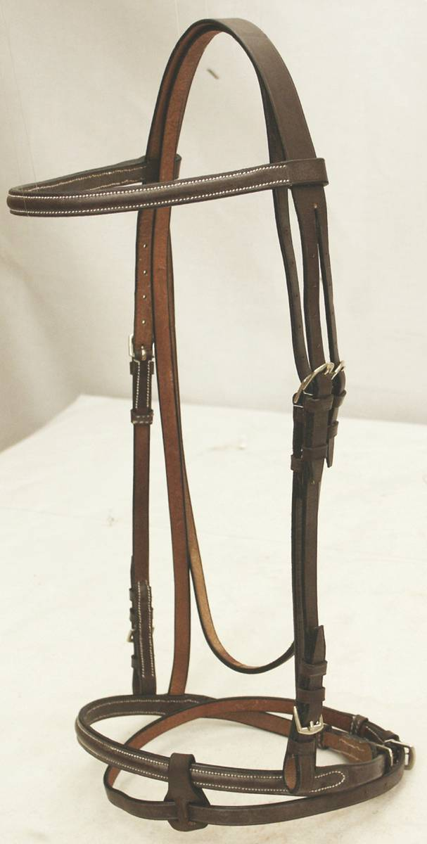 Abetta Square Raised English Bridle with Web Reins