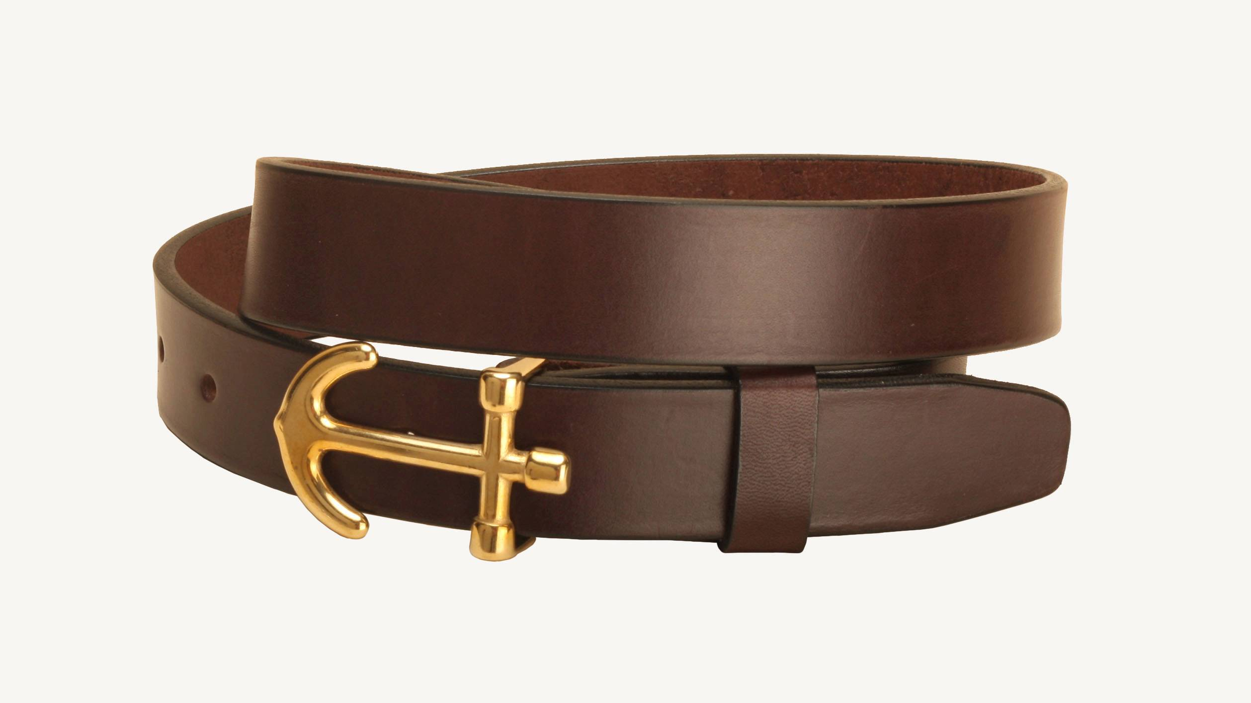 Tory Leather Anchor Buckle Strap Leather Belt