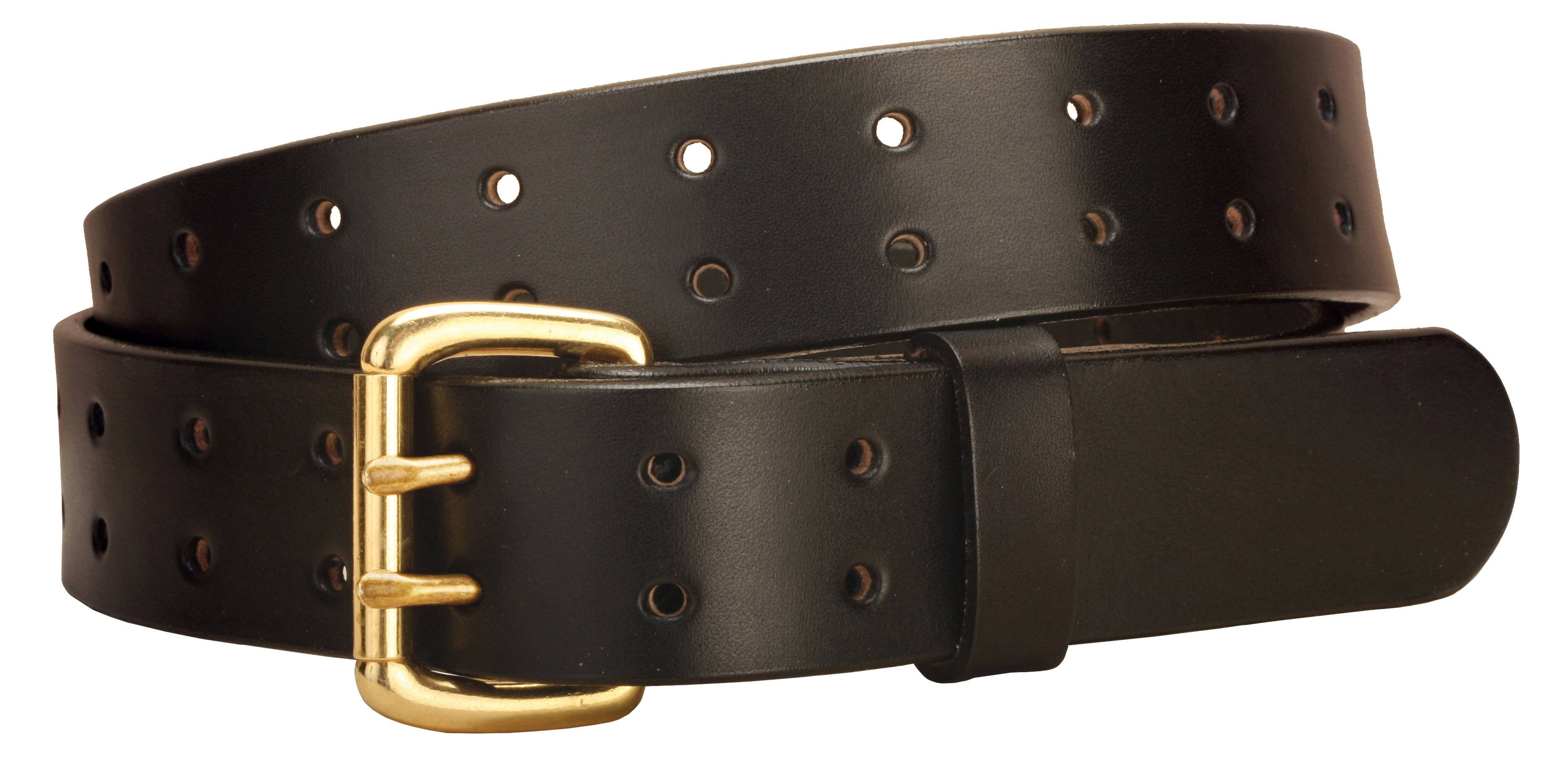 Tory Leather Double Tongue Leather Belt with Double Holes