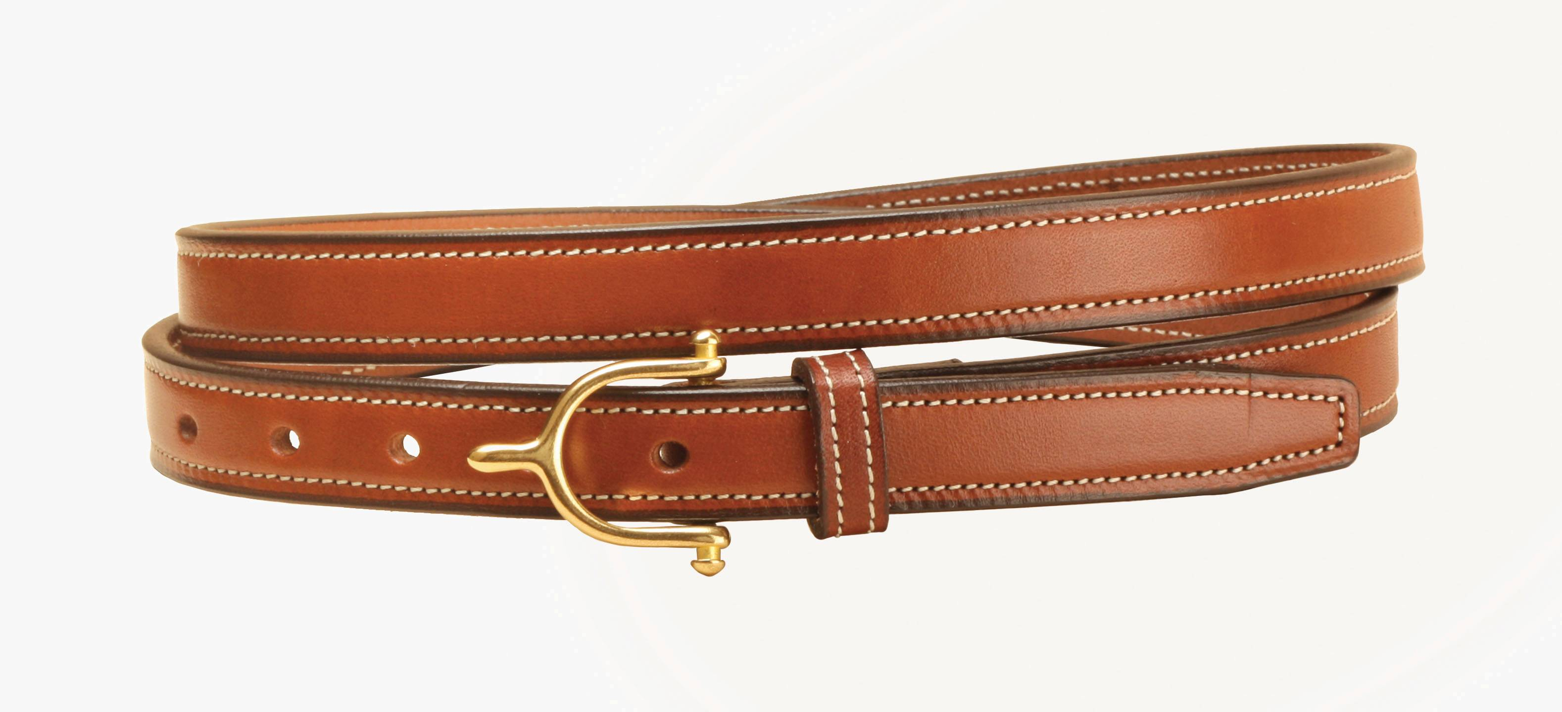 TORY LEATHER 1'' Belt with Spur Buckle