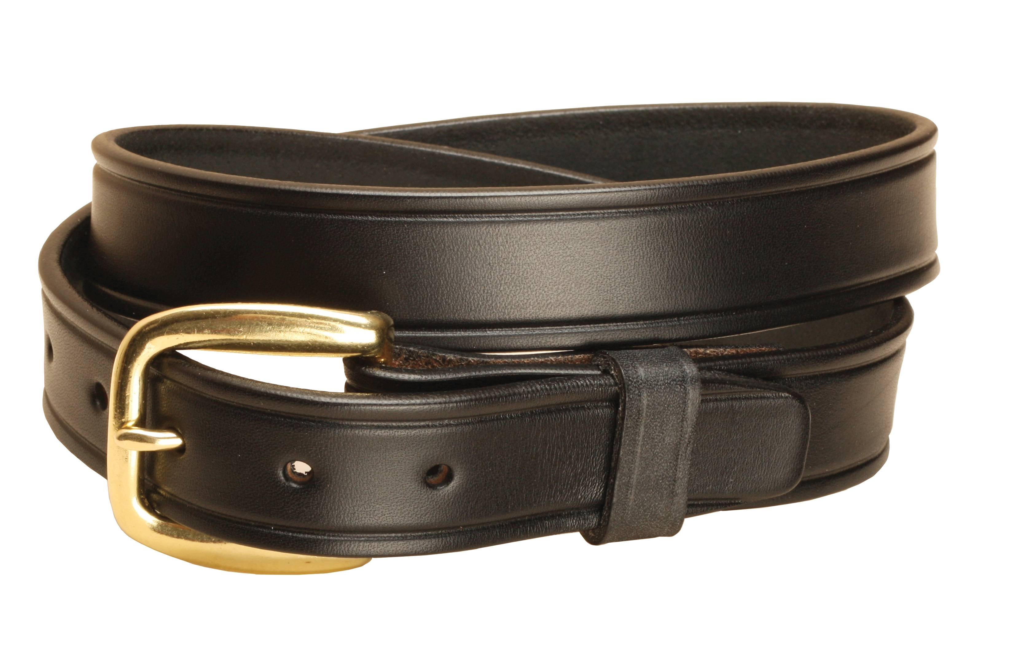 TORY LEATHER 1 1/4'' Plain Belt with Brass Buckle