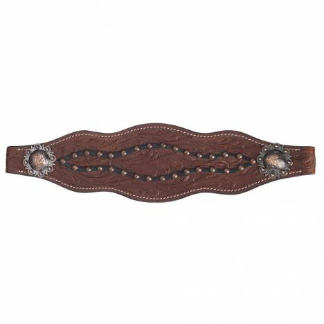 Silver Royal Cooper Belt Buckle Bling Bronc Noseband