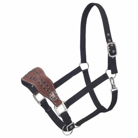 Silver Royal Cooper Belt Buckle Bling Nylon Bronc Halter