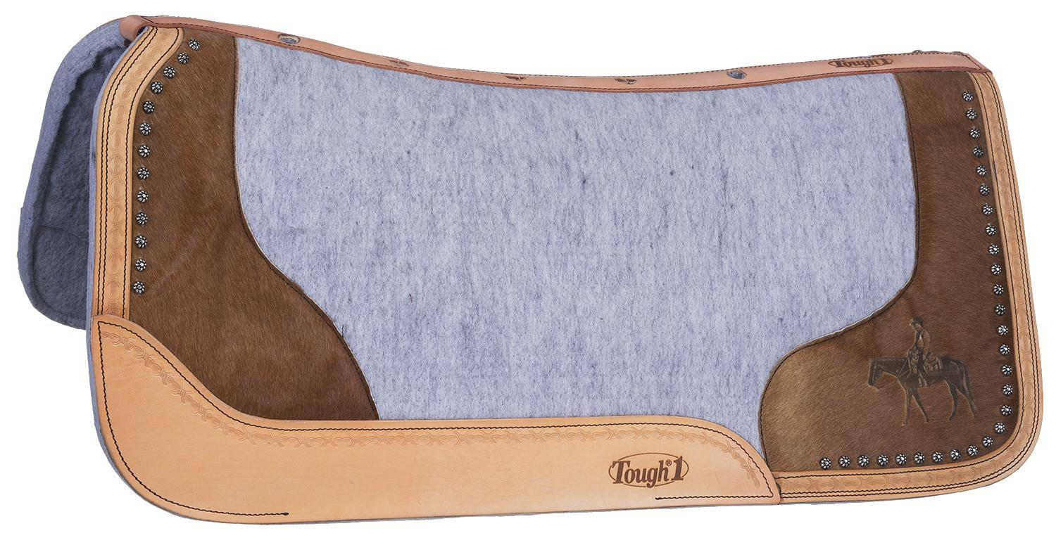 Tough-1 Motif Felt/Hair Contoured Saddle Pad - Western Pleasure