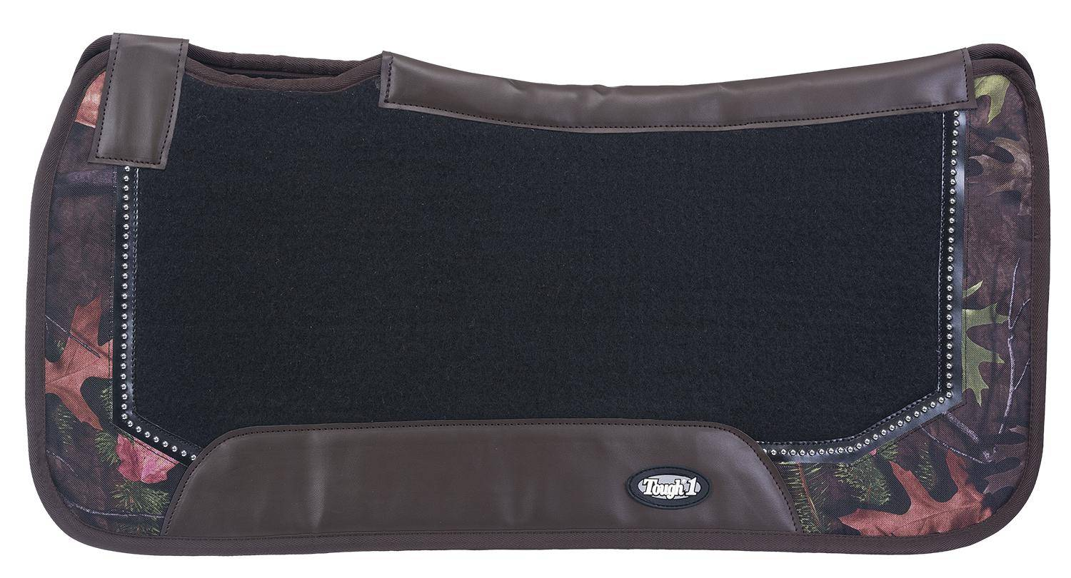 Tough-1 Air Flow Shock Absorber PVC Saddle Pad Prints With Dots Pad - Tough Timber