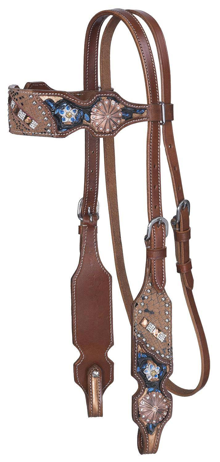 Silver Royal Ashton Browband Headstall