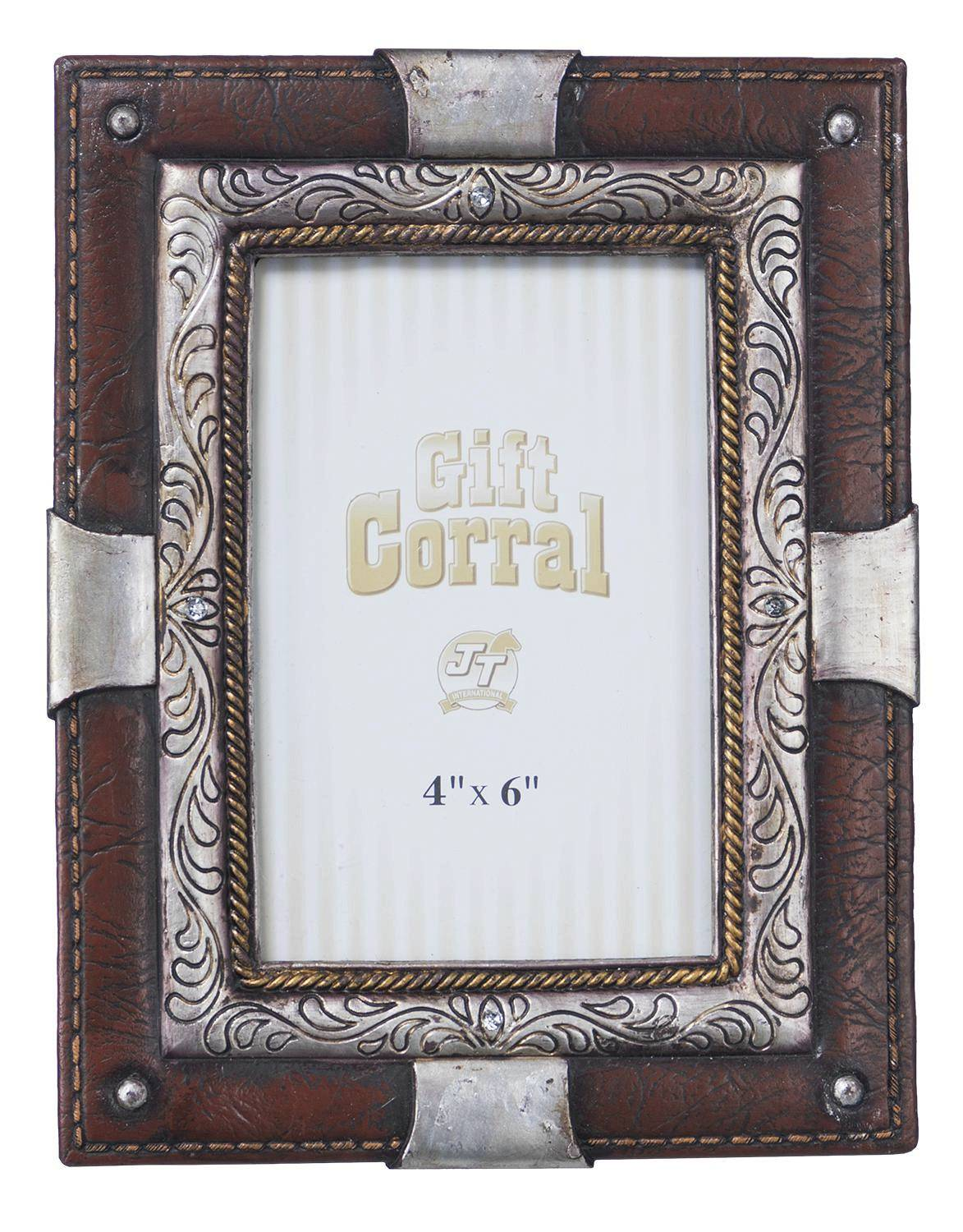 Silver And Leather Frame
