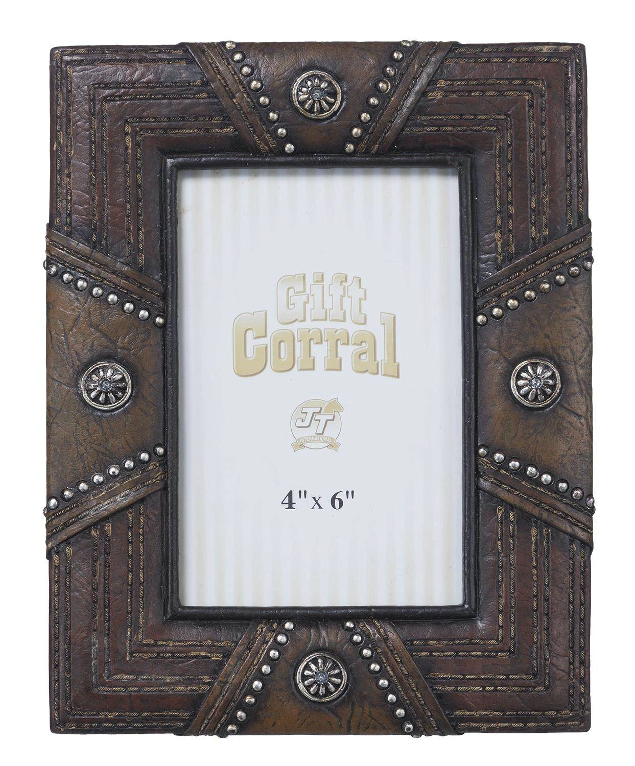 Stones Leather Look Picture Frame