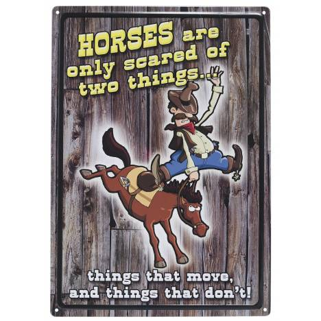 Gift Corral Horses Scared Sign