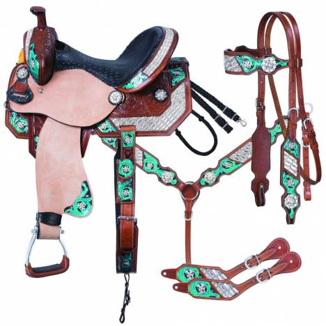 Silver Royal Ashton Barrel Saddle 5Pc Package