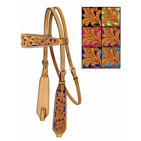 Mesquite Canyon Floral Tooled Headstall
