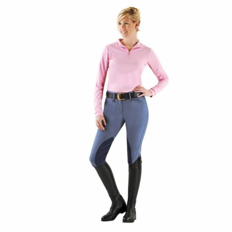 Ovation Ladies' Euroweave DX Taylored Front Zip Breeches
