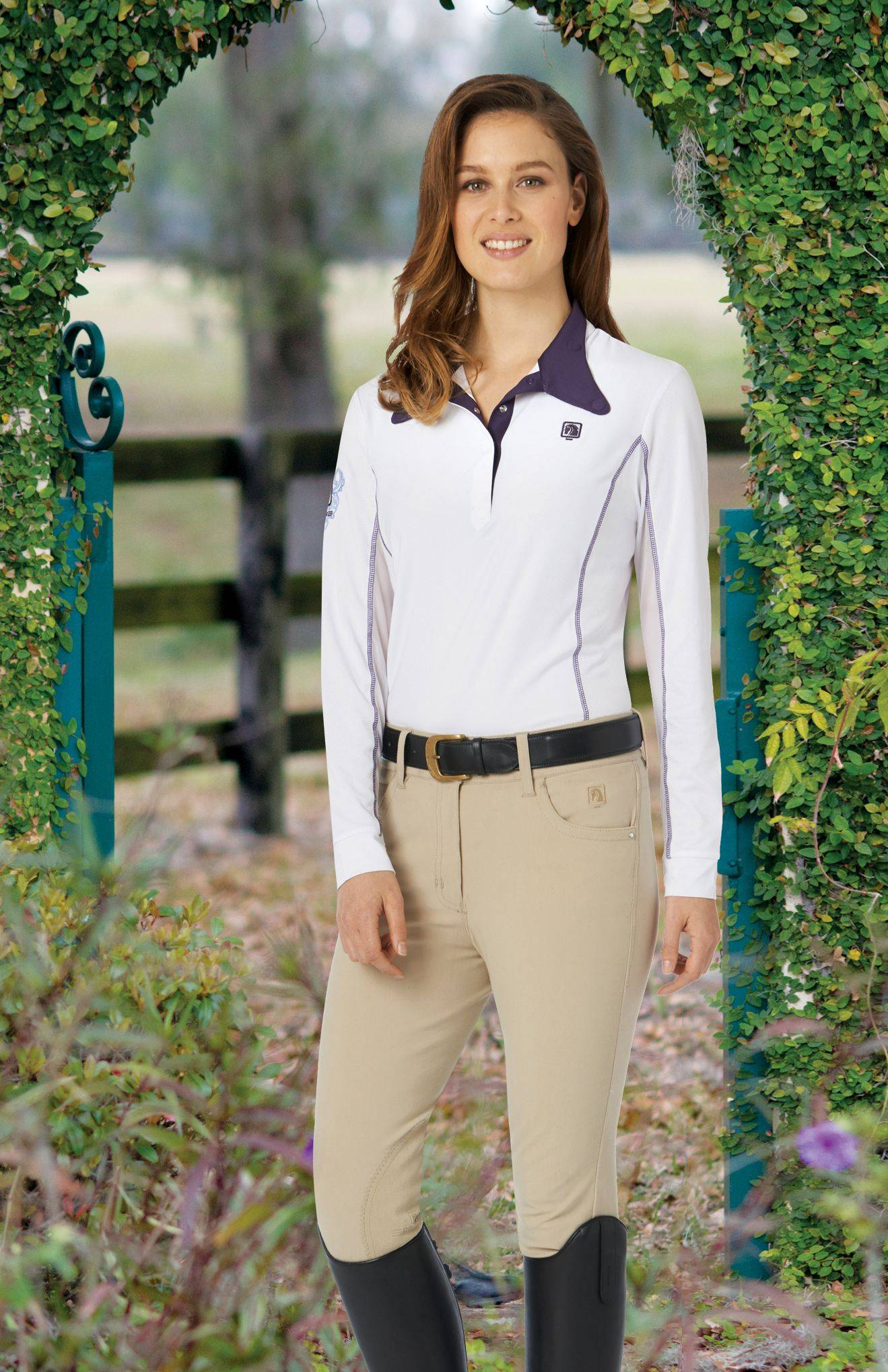 Romfh Ladies' St Tropez Knee Patch Breeches