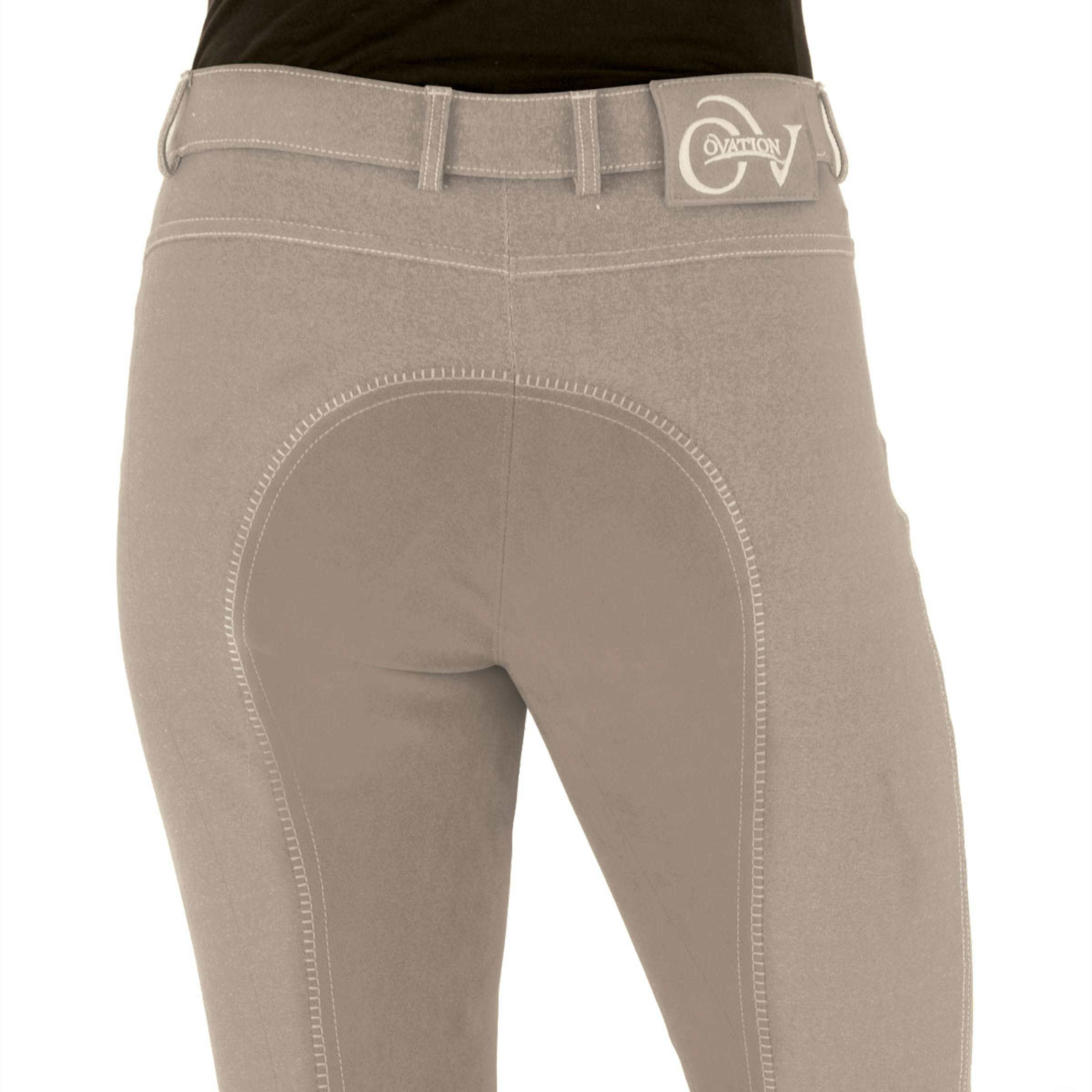 Ovation Ladies' Euro Jean Front Zip Full Seat Breeches