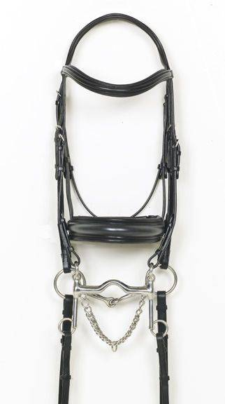 Ovation Double Dressage Bridle with Reins