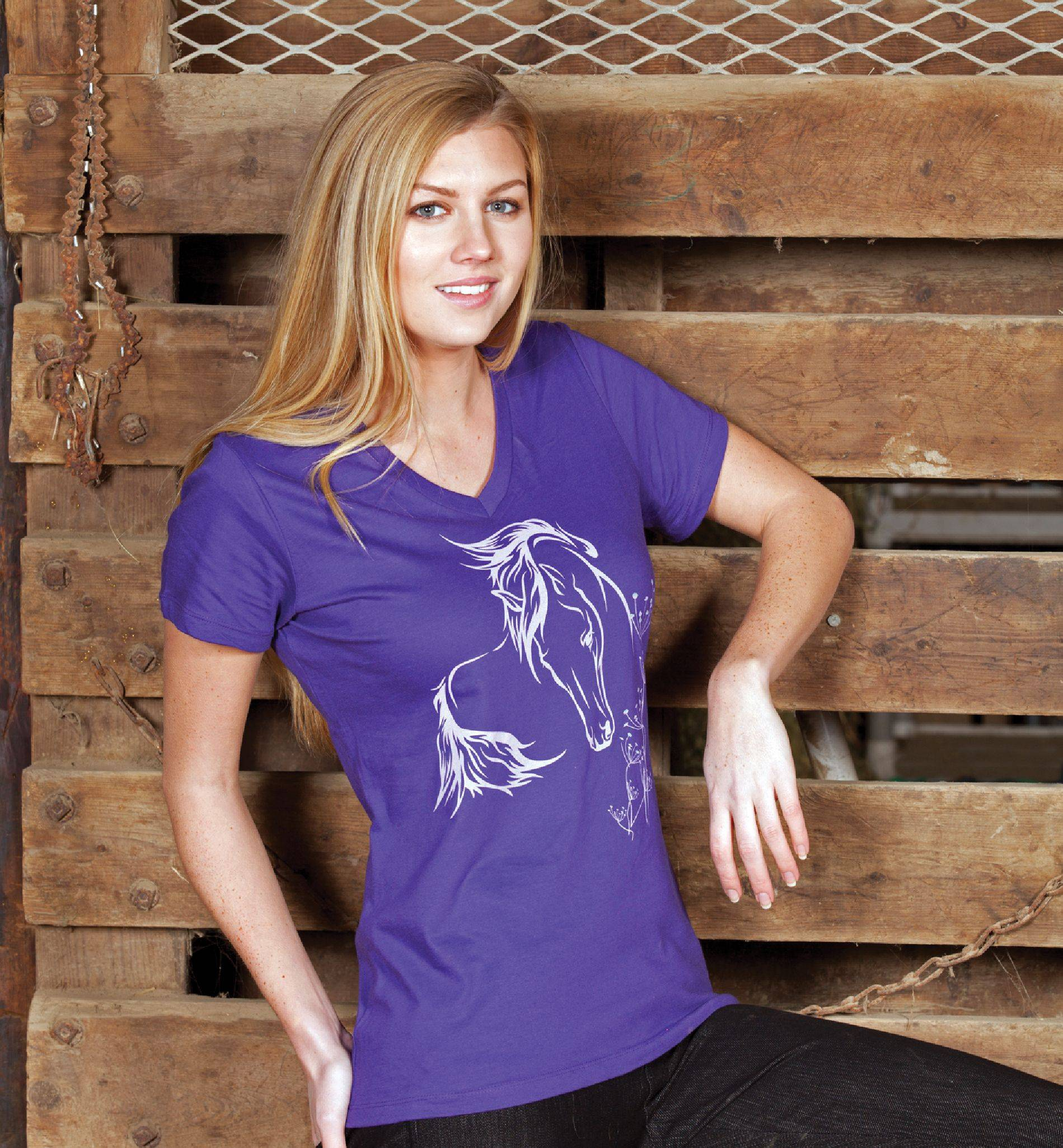 Genuine Ranch Brand Ladies' Fantasy Horse Tee