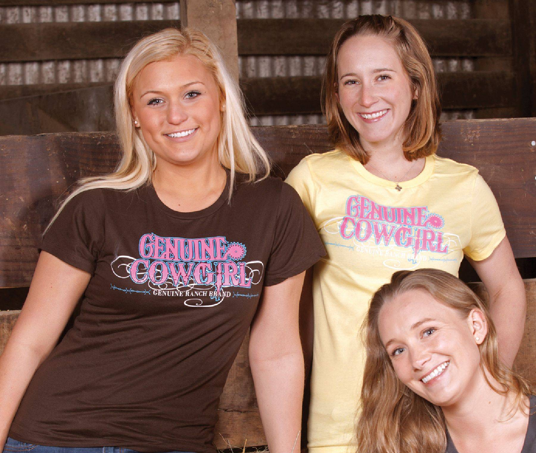 Genuine Ranch Brand Ladies' Genuine Cowgirl Logo Tee