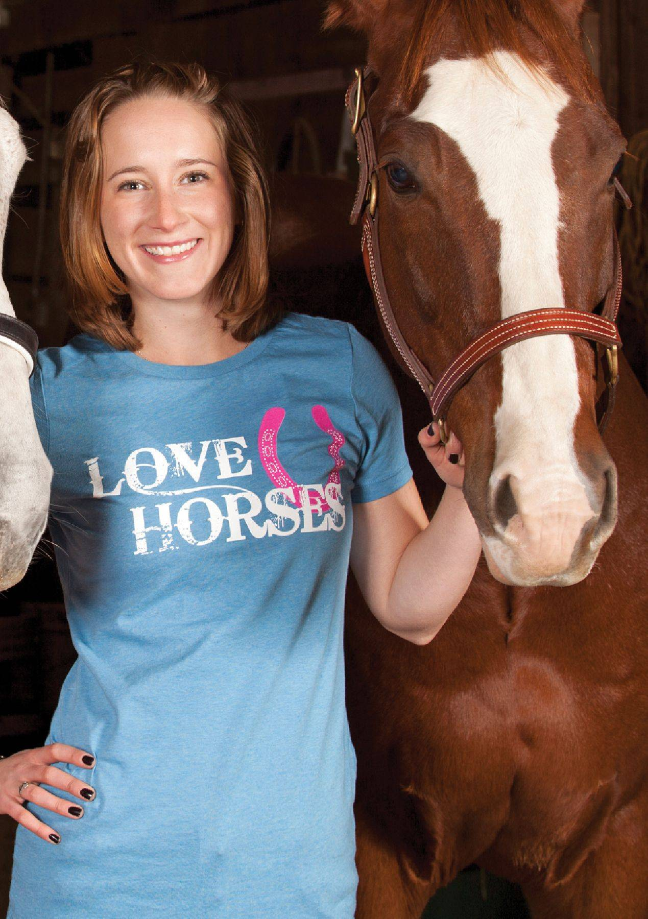 Genuine Ranch Brand Ladies' Love Horses Crew Neck Tee