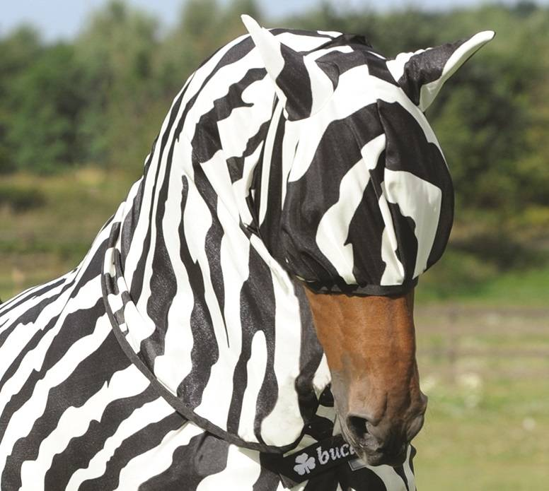 Bucas Buzz Off Zebra Fly Mask - Lg