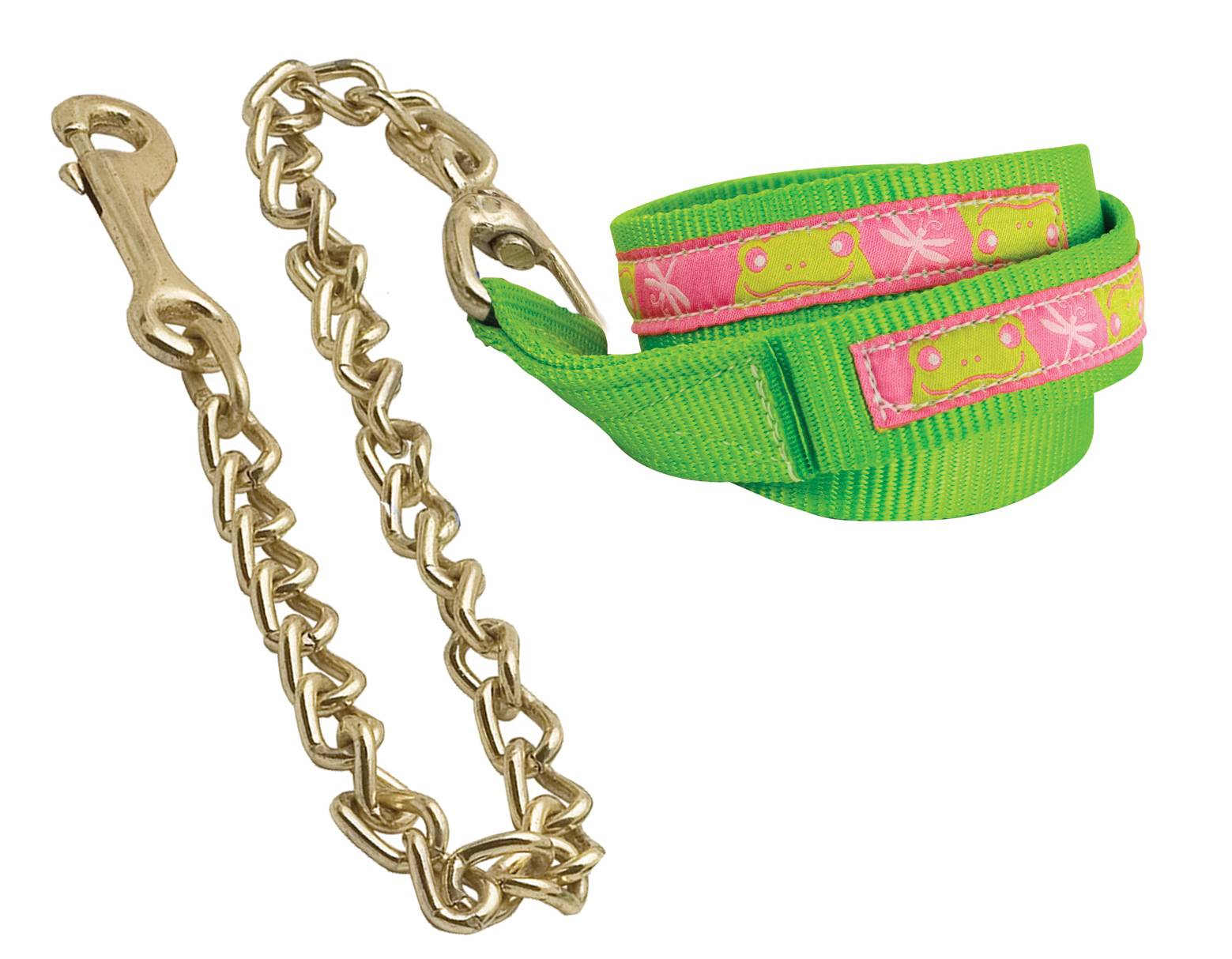 Perri's Nylon Ribbon Lead with Chain
