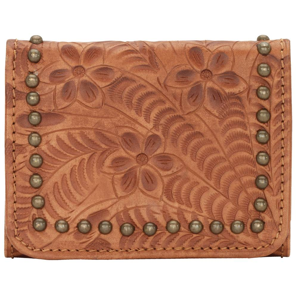 American West Shane Ladies Tri-Fold French Wallet