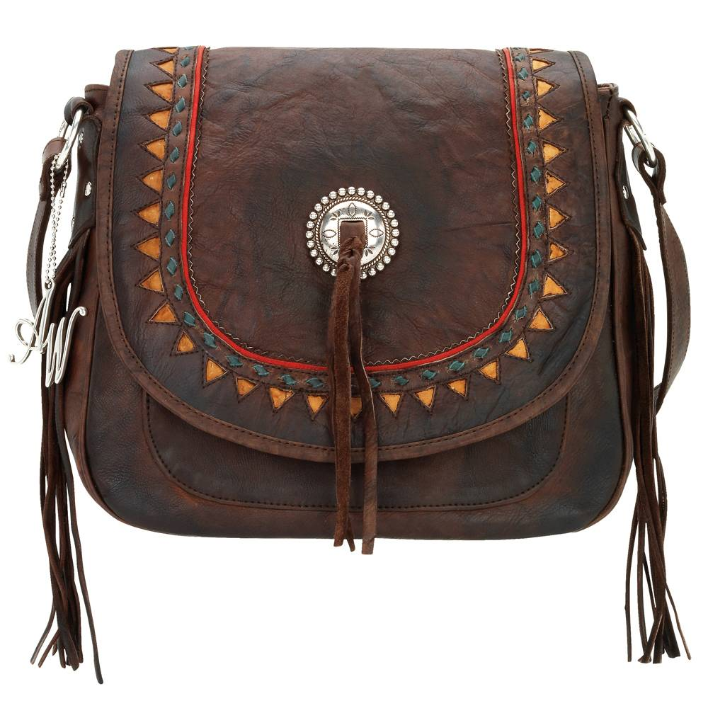 American West Tribal Trade Flap Messenger Bag