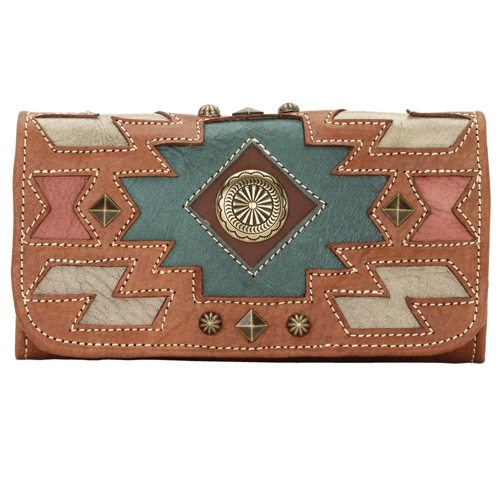 American West Zuni Passage Ladies Tri-Fold Wallet