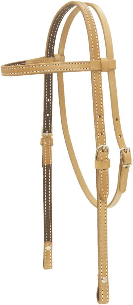 Cowboy Pro Russet Browband Headstall