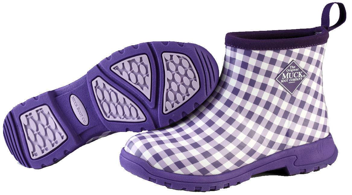 Muck Boots Ladies Breezy Ankle - Purple Gingham