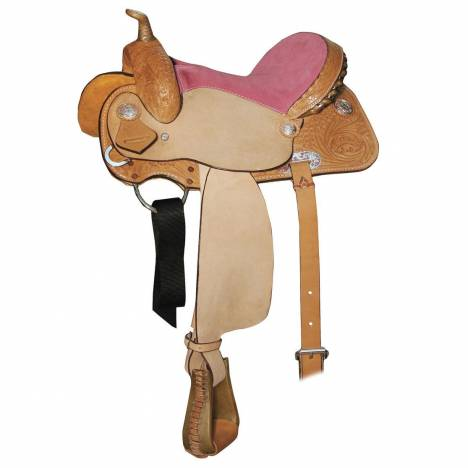 Circle Y Little Cowpoke Roper Saddle - Suede Seat
