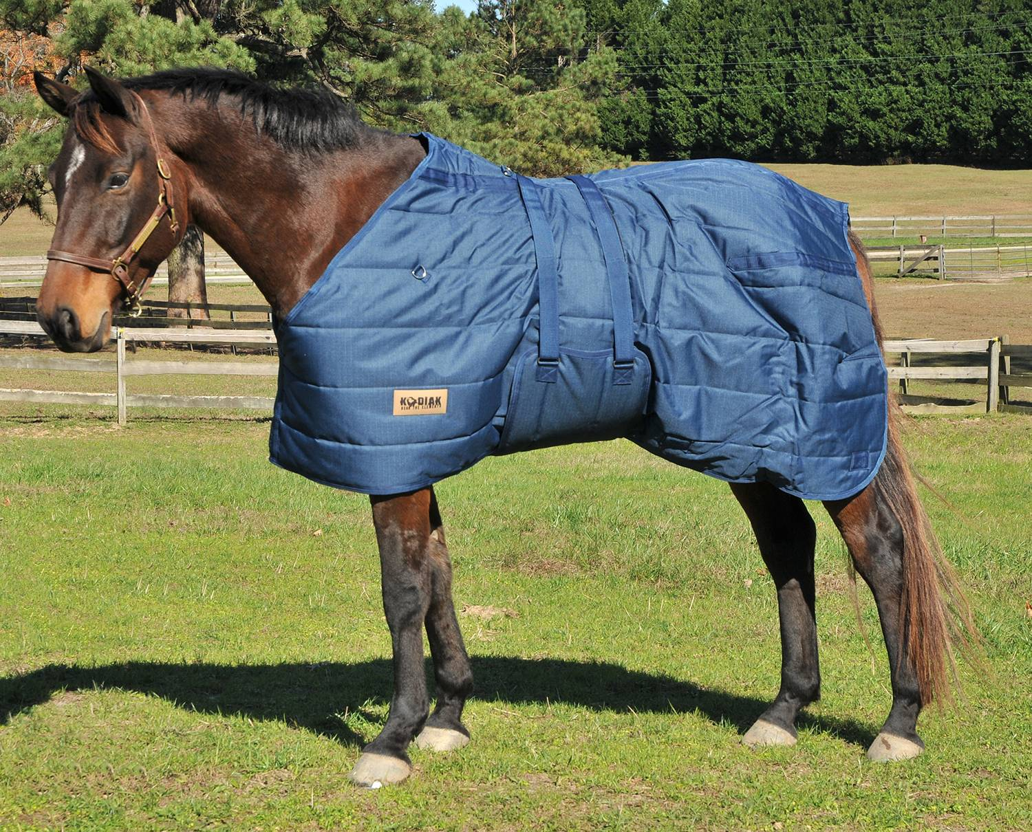 Kodiak Premium 1200D Heavyweight Quilted Stable Blanket with Belly Wrap