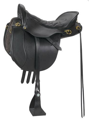 Tucker Equitation Smooth Round Skirt Saddle-English Billets, English Leathers, Trail Glide Stirrup