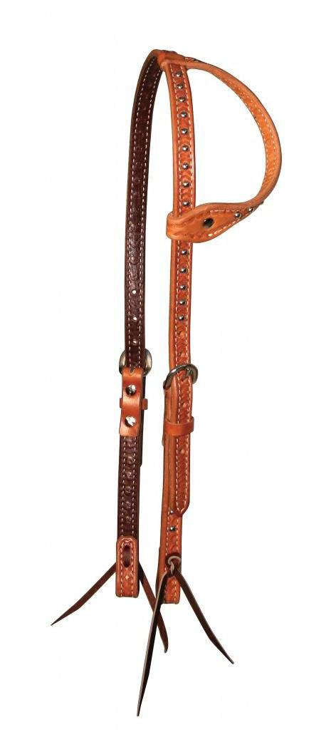 Reinsman Charmayne James Silver Dots One Ear Gag Headstall