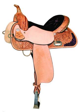 High Horse Proven Aurora Barrel Saddle - Turquoise Croc