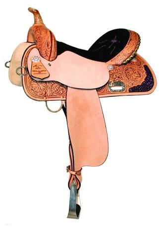 High Horse Proven Aurora Barrel Saddle - Purple Croc