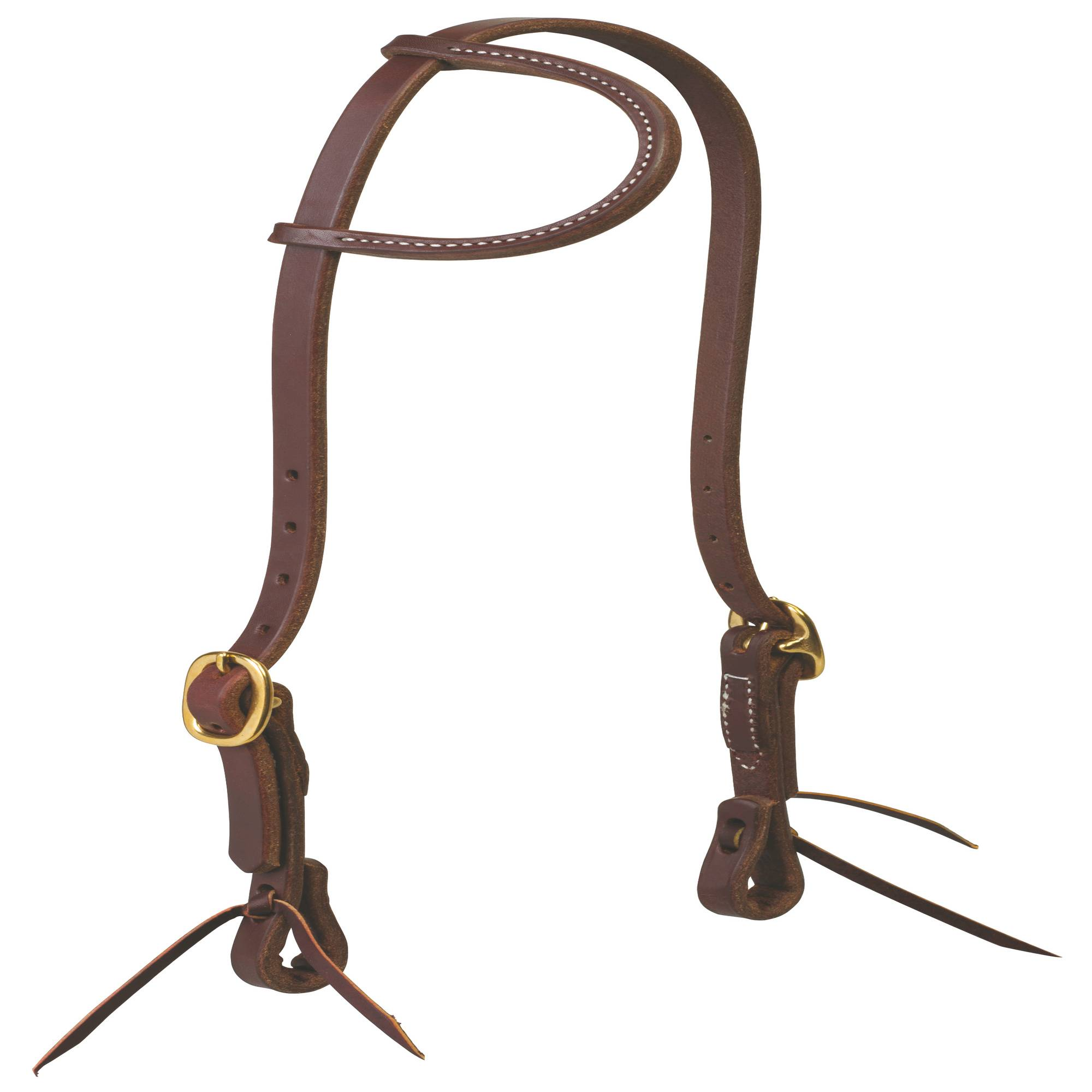 Weaver Working Cowboy Sliding Ear Headstall with Tie Ends