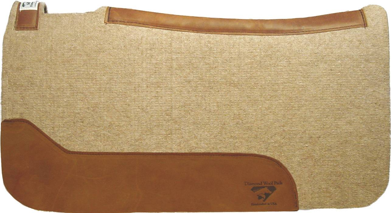 Diamond Wool Contoured Cowboy Square Pad
